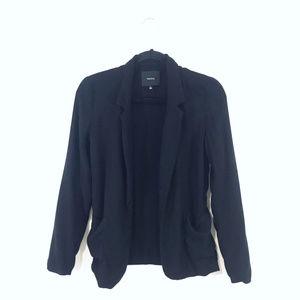 [Talula] Black Open Front Sweater Blazer
